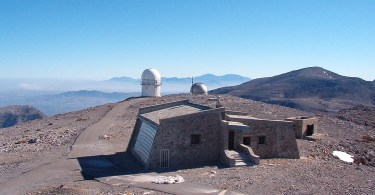 Skinakas observatory in the Nida mountains