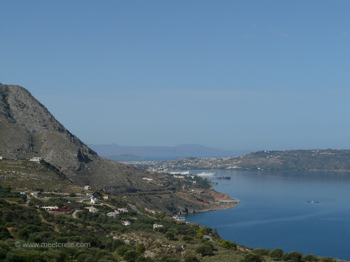 Souda Bay Crete seen from Aptera