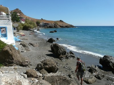 Beach to the east in Lentas village in south Crete