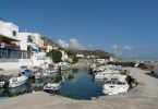 The small harbour in Kolymbari village west Crete