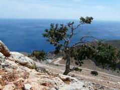 View from Agios Spiridon church to Seitan Limania beach