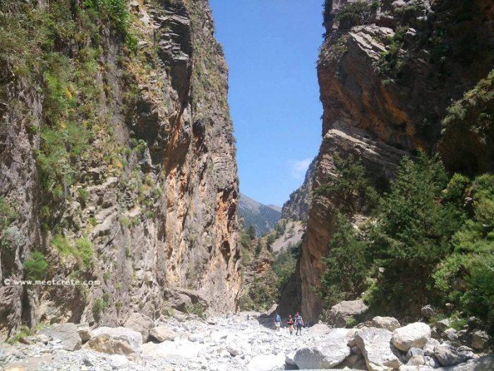 Samaria gorge in Crete _ the iron Gates