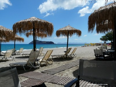 Platanias - long sandy beaches