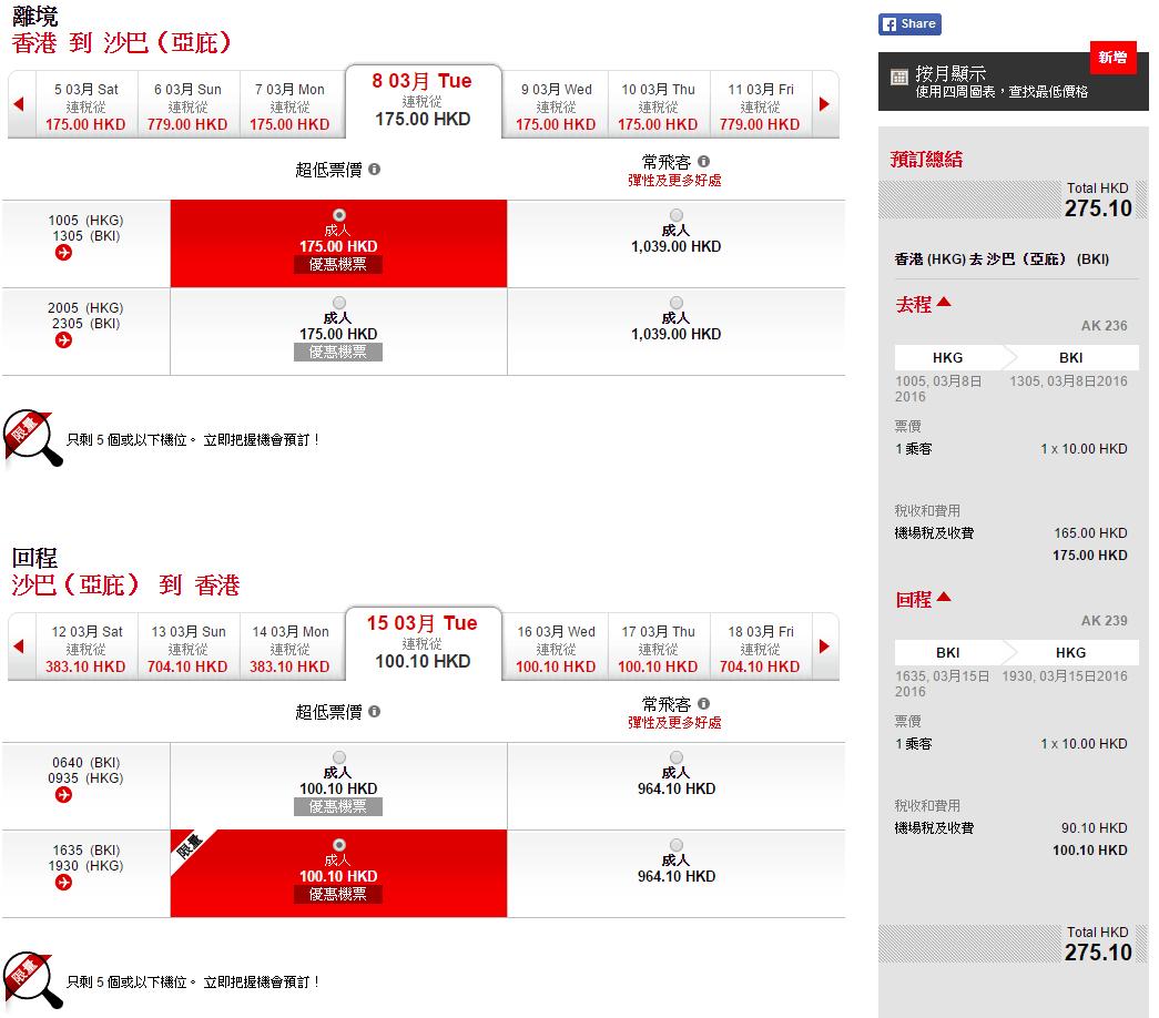勁抵!香港飛沙巴單程只需$10 – AirAsia (優惠至4月19日) - MeetHK.com 旅遊情報網