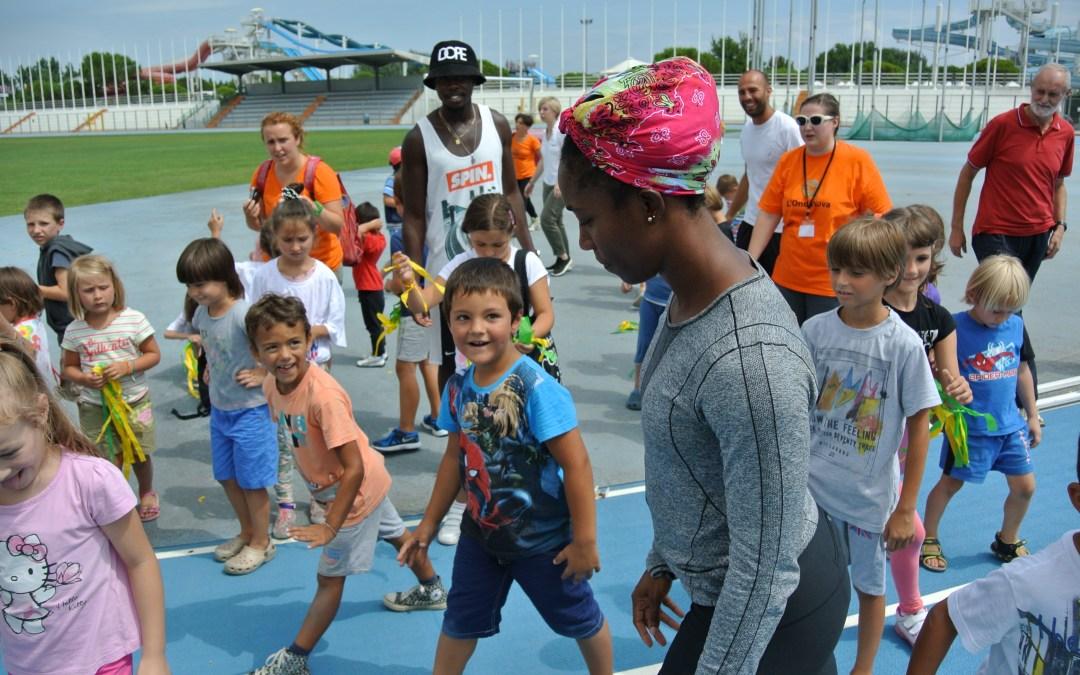 Allo Stadio con i Campioni – mini olimpiade con i giamaicani e i ragazzi di Lignano