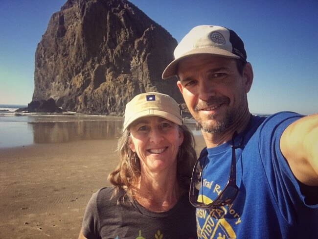 Mary and John at Cannon Beach, Oregon