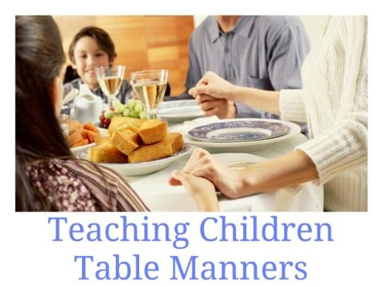 fun ways to teach mealtime etiquette