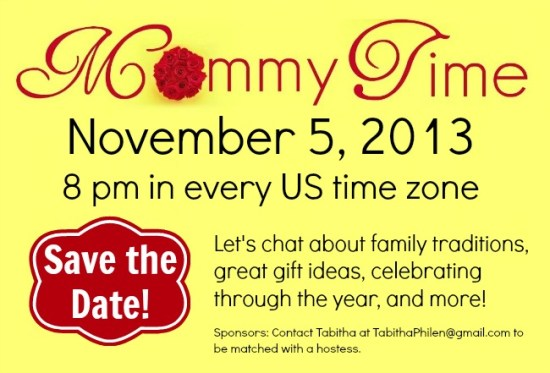 Mommy Time Save the Date November 5th!