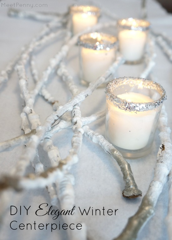 DIY Elegant Winter Centerpiece  Meet Penny