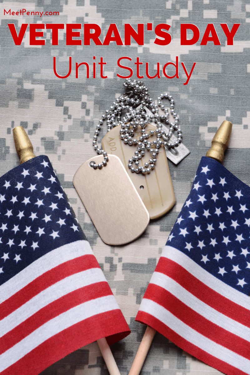 Veterans Day Unit Study With Patriotic Printable Pack