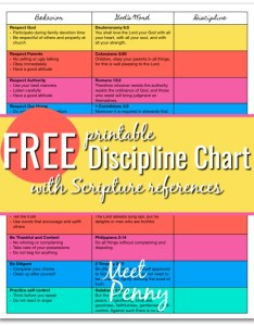 Having  set of if then behaviors and reactions helps parents respond wisely to their also free discipline chart for christian meet penny rh meetpenny