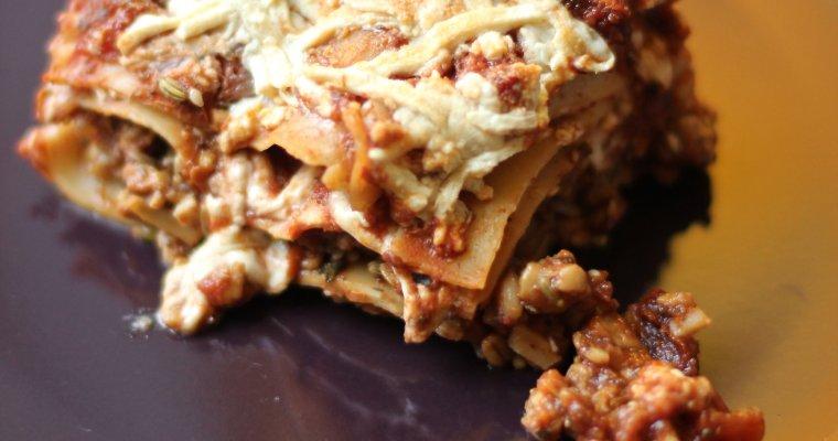 Tempeh Sausage & Artichoke Lasagna