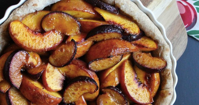 Brown Sugar Peach & Plum Tart