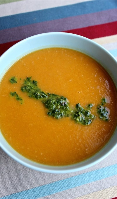 Chimichurri Carrot Soup