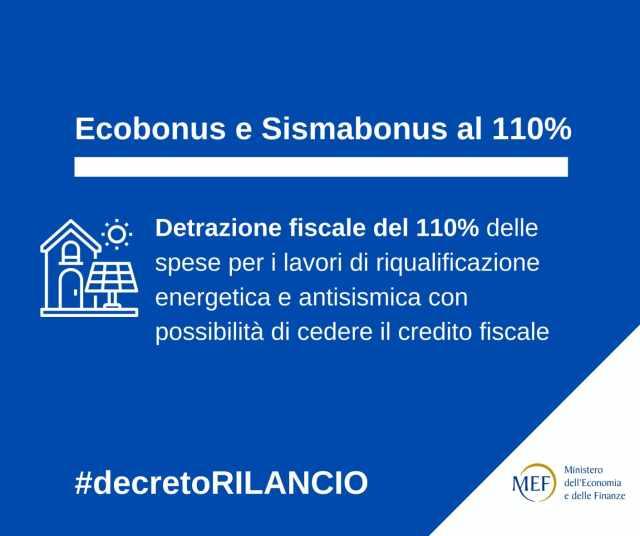 """""""Card Ecobonus e Sismabonus: detrazione fiscale del 110% per le spese di riqualificazione"""""""