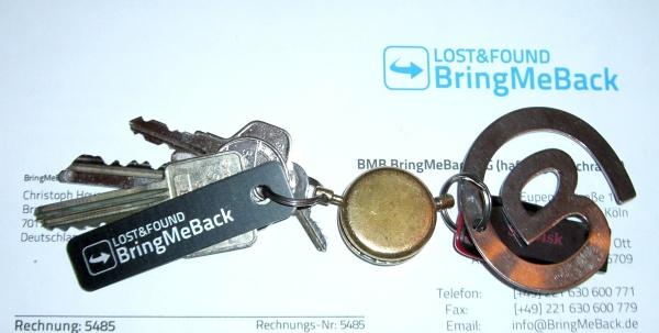 mein Schlüssel mit BringMeBack Anhänger