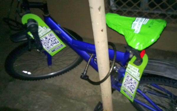 nervige Werbung am Fahrrad