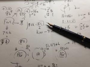万年筆とメモ