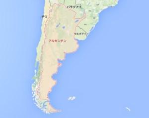 アルゼンチンの地図