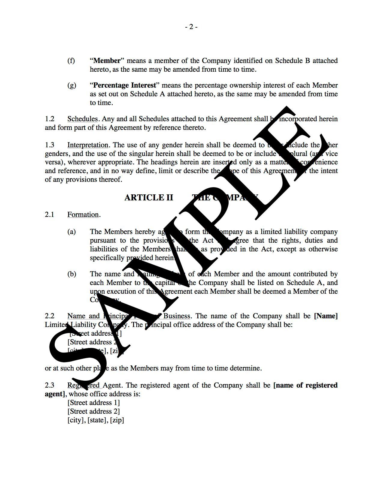 This foundational document defines the ownership interests and rights of the. Llc Operating Agreement For Real Estate Development Legal Forms And Business Templates Megadox Com