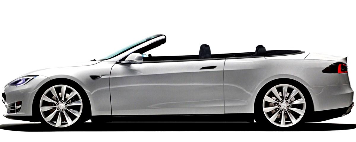 Tesla S 2 door convertible