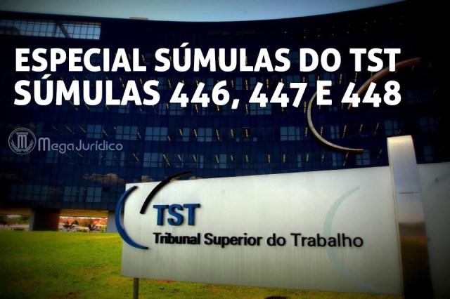 especial sumulas 446 447 e 448 TST