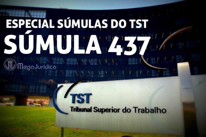 especial sumula 437 TST