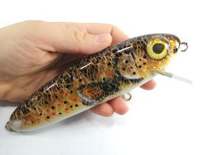 Giant Stalker 6in Fishing Lures Brown Trout