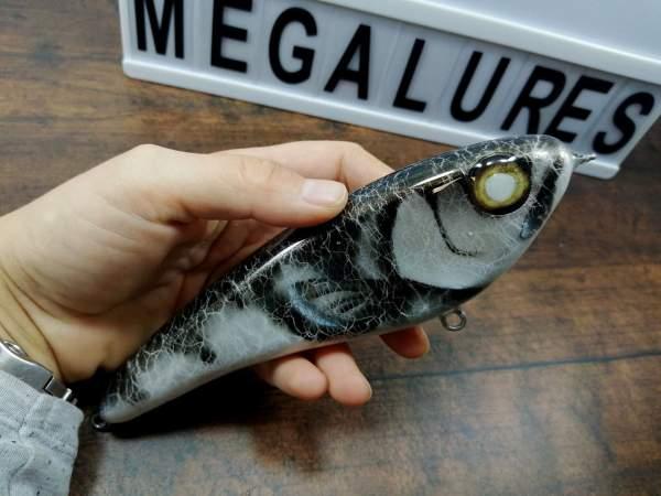 Jerkbait, Silver walleye, mega lures, musky lures, custom lures