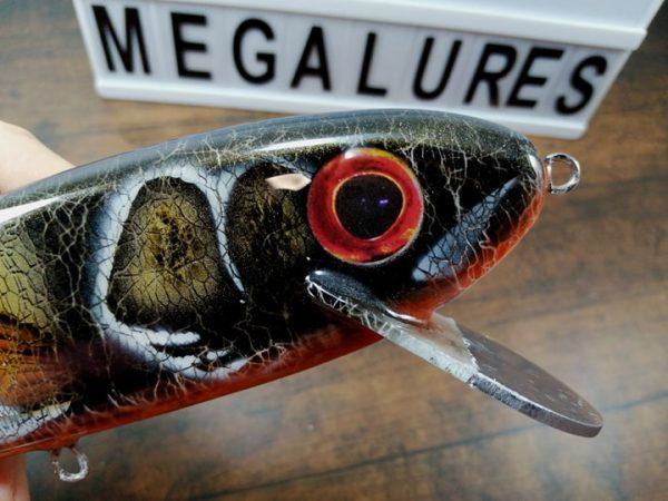 Giant Stalker Black Perch, GS 10, Mega Lures, Musky Lures, Fishing, Custom Lures, handmade lures