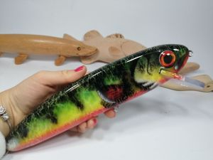Firetiger GS 10 in bait Handmade Musky Lures Custom Lure Fishing