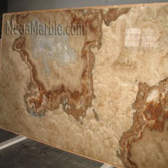 Best Material For Kitchen Countertops Polished Brass Faucets Onyx Countertop Slabs – Mega Marble