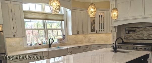 White Quartzite Slabs For Kitchen Countertops