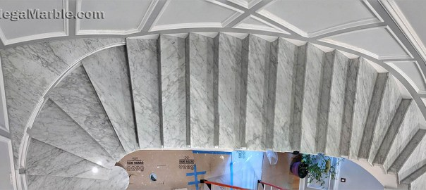 White marble stairs Design