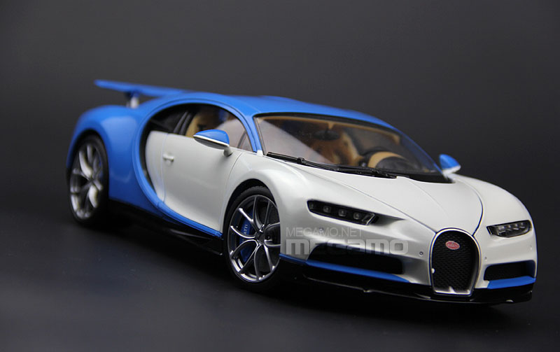 1 18 Gt Autos Gta Bugatti Chiron White Blue Diecast Open