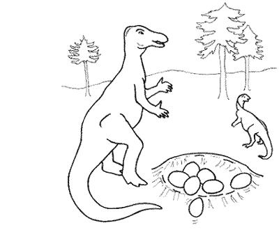 The dinosaur who is bitin