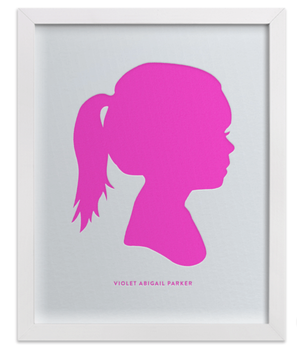 Silhouette Prints by Minted - Megan & Wendy Gift Guide 2015