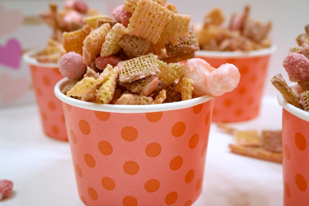 Cupid Crunch is a Chex cereal recipe made with candy melts and can be totally customized with whatever will satisfy your sweet tooth. Perfect to make this Valentine's Day!
