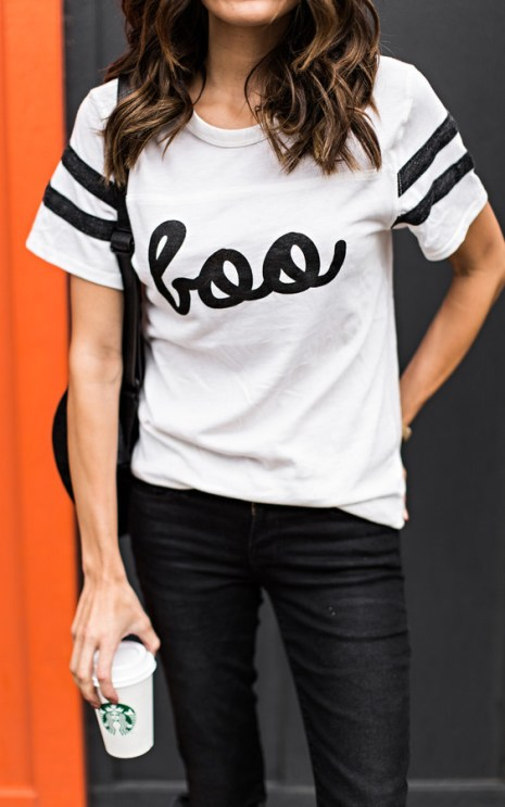 Simple Boo t-shirt for women