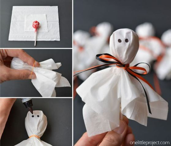 Lolly Pop Ghosts from onelittleproject.com