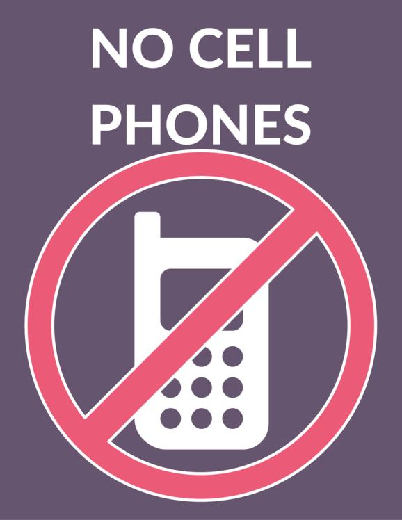 No Cell Phones Luke's Diner Sign