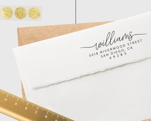Gift Guide for Stationery Lovers - Custom Return Address Stamp