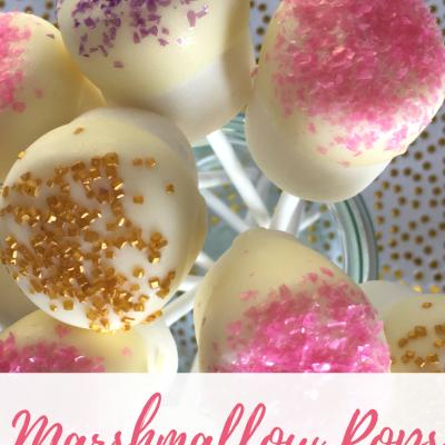 Glitter Marshmallow Pops
