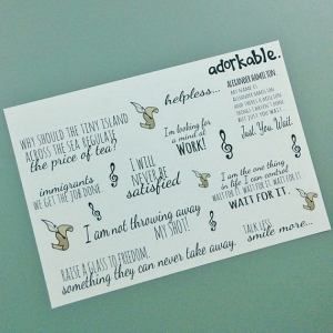 Studio Adorkable Hamilton Quote Stickers
