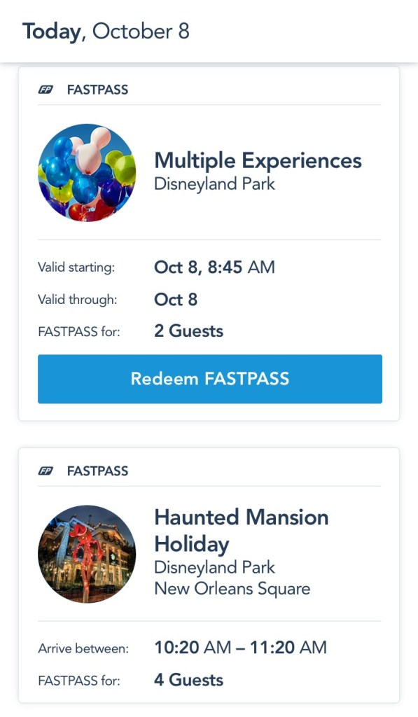 Multiple Experiences Pass Disneyland MaxPass