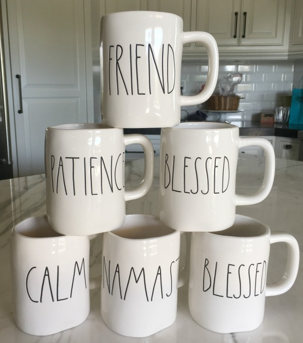 Rae Dunn Mugs With Large Letters Long Story Short