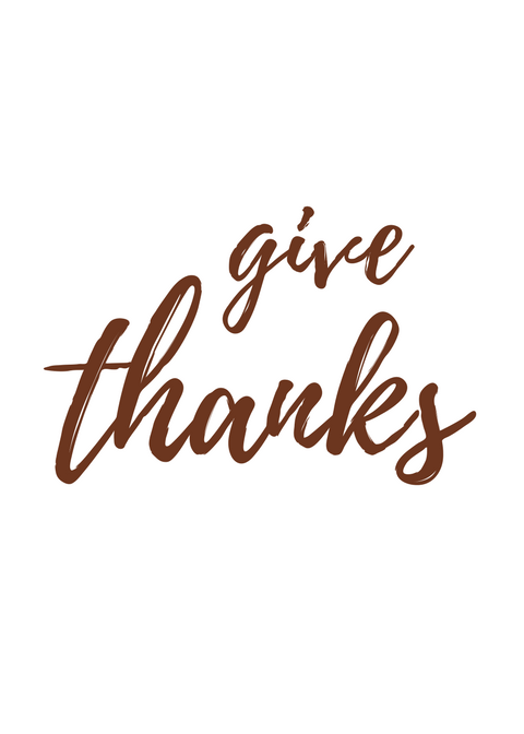 Free Thanksgiving Printable - Spruce up your Thanksgiving decor with this Give Thanks free printable! Would make a beautiful addition to any Thanksgiving tablescape