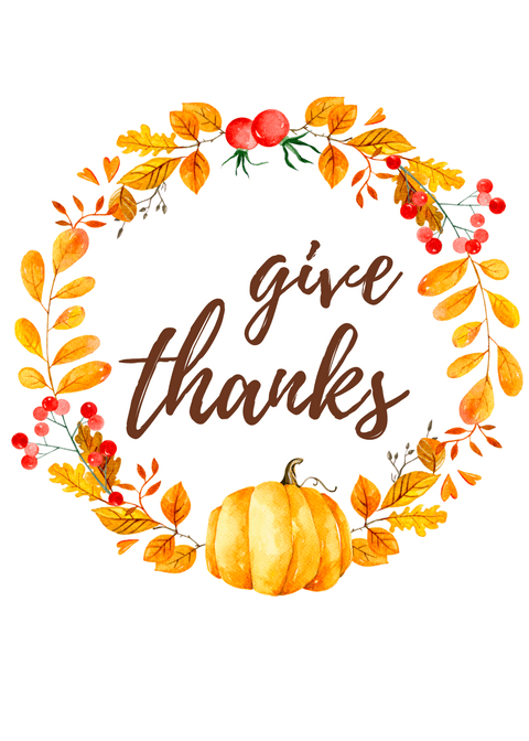 image relating to Give Thanks Printable called Cost-free Thanksgiving Printable
