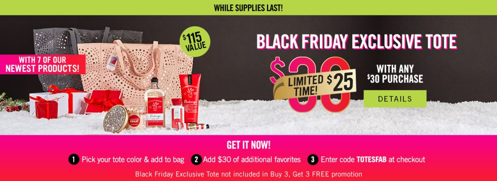 Bath and Body Works Tote Black Friday Deal