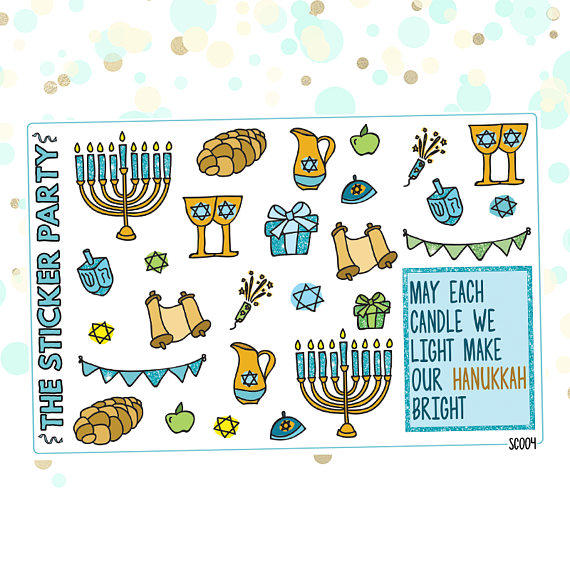 Hannukah Planner Icons
